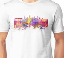 Athens - OH skyline in watercolor background Unisex T-Shirt