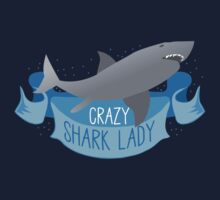 Crazy Shark Lady Banner Kids Tee