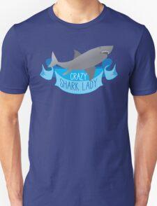 Crazy Shark Lady Banner Unisex T-Shirt