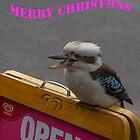 Kookaburra Merry Christmas 2 by Pauline Tims