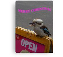 Kookaburra Merry Christmas 2 Canvas Print