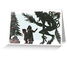 Krampus - Silhouette Greeting Card