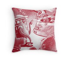 Sacrificial Robot Throw Pillow