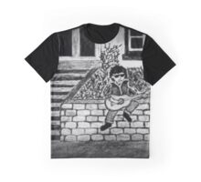 LONELY ROCKER BW Graphic T-Shirt
