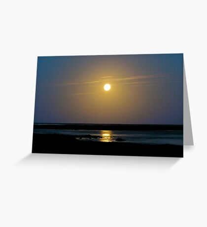 Sunset waters Greeting Card