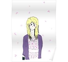 Blonde Anime girl Suzu Poster