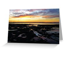 Sunset pools Greeting Card