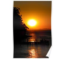 Sunset over Jetty Poster