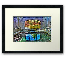 Spring House Window Framed Print