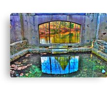 Spring House Window Canvas Print