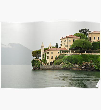 Villa on Lake Como Poster