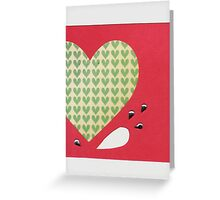Christmas Love (Red and Green) Greeting Card