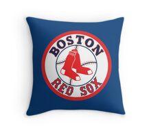 boston red sox logo Throw Pillow