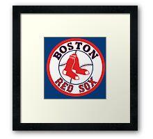 boston red sox logo Framed Print