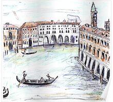 Traghetto, Grand Canal, Venice Poster