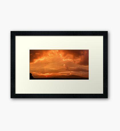 ©HCS Orange Sunset I Framed Print