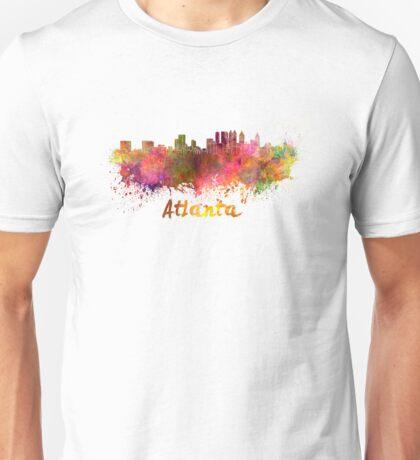 Atlanta skyline in watercolor Unisex T-Shirt