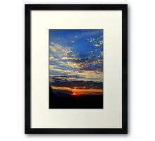 ©HCS Sunset Vertical I Framed Print