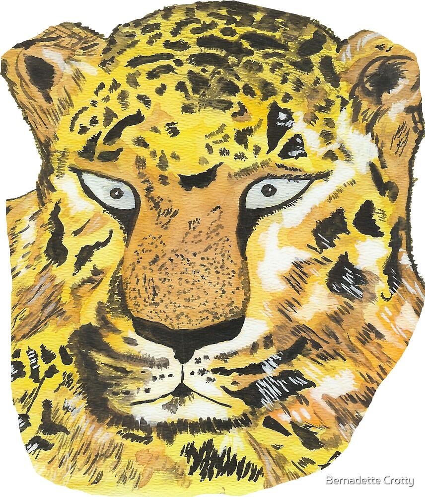 Blue-eyed leopard by Bernadette Crotty