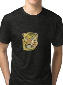 Blue-eyed leopard Tri-blend T-Shirt