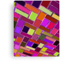 Pink and other color tiles Canvas Print