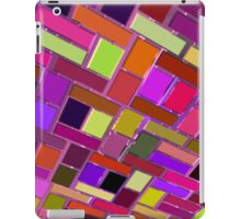 Pink and other color tiles iPad Case/Skin