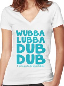 Wubba Lubba Women's Fitted V-Neck T-Shirt