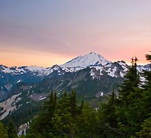 Sunset at Mount Baker by Michael Russell