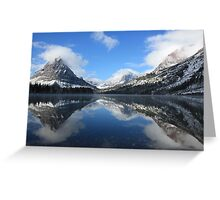 Two Medicine Lake After a Snowstorm Greeting Card