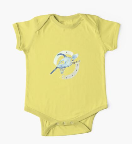 Blue Turtle in a Periscope One Piece - Short Sleeve
