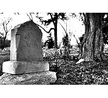 Anna - Prospect Hill Cemetery Photographic Print