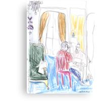 Robert Writing, Paris Canvas Print