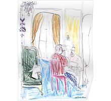 Robert Writing, Paris Poster