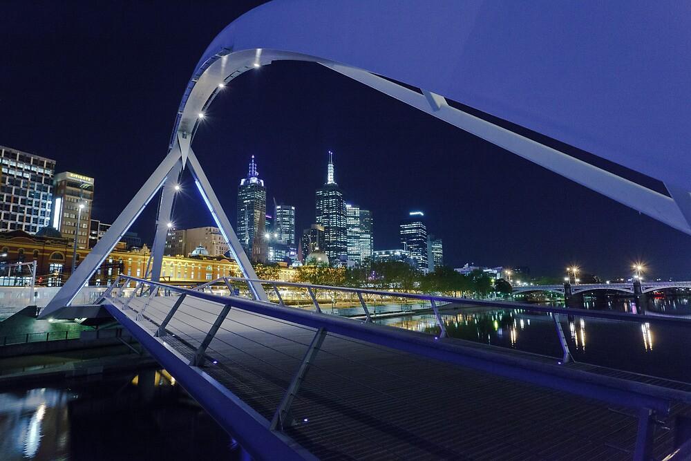 Yarra Pedestrian Bridge  by Shari Mattox-Sherriff