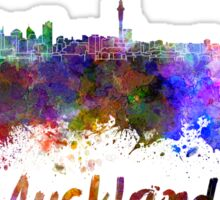 Auckland skyline in watercolor Sticker