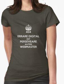 ERRARE DIGITAL EST PERSEVERARE AUTEM WEBMASTER Womens Fitted T-Shirt