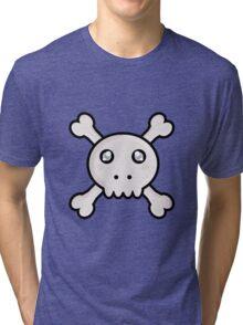 Kawaii Skull Tri-blend T-Shirt