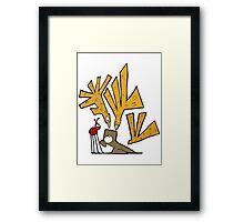 Bird Attack! Framed Print
