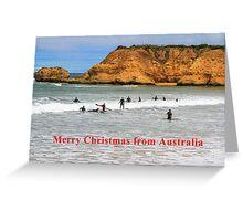 Great Ocean Road Surfing Greeting Card