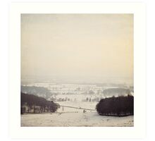 Snow covers the land Art Print