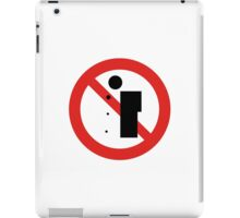 No Spitting, Chinese Sign iPad Case/Skin