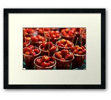 Juicy Strawberries Framed Print