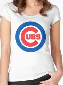 cubs logo Women's Fitted Scoop T-Shirt