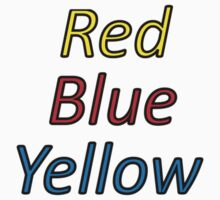 Red Blue Yellow Kids Tee