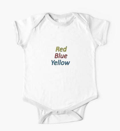 Red Blue Yellow One Piece - Short Sleeve