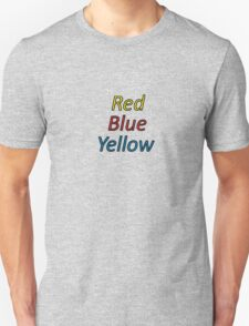 Red Blue Yellow T-Shirt