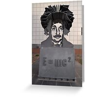 Einstein Sculpture, Canberra, Australia 2013 Greeting Card