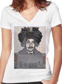 Einstein Sculpture, Canberra, Australia 2013 Women's Fitted V-Neck T-Shirt
