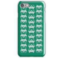 Turqoise mirror bird pattern iPhone Case/Skin