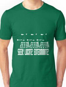 Dalek - SEEK! LOCATE! EXTERMINATE! (white) Unisex T-Shirt